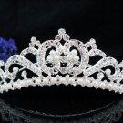 Huge Bridal silver crystal comb ;wedding tiara;bride headpiece ;opera accessories #4705s