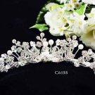 Huge Bridal silver crystal comb ;wedding tiara;bride headpiece ;opera accessories #6155s