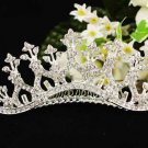 Huge Bridal silver crystal comb ;wedding tiara;bride headpiece ;opera accessories #651s