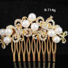 Floral Bridal GOLDEN crystal comb ;wedding tiara;bride headpiece ;opera accessories#714G