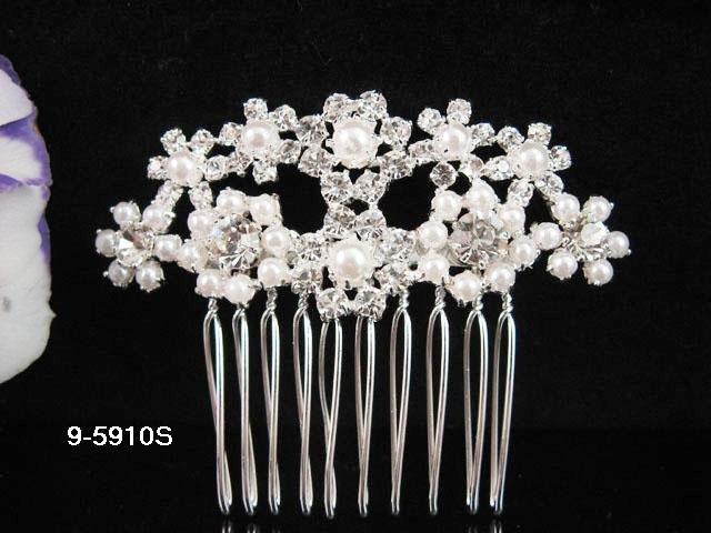 Fancy Bridal silver crystal comb ;wedding tiara;bride headpiece ;opera accessories#5910s