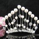 Silver Flower girl comb;Bridal crystal comb ;wedding tiara;bride headpiece ;opera accessories#4222