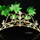 Sweetheart golden comb;Bridal crystal comb ;wedding tiara;bride headpiece ;opera accessories#4598g