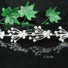 Silver floral hair comb;Bridal crystal comb ;wedding tiara;bride headpiece ;opera accessories#5478