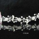 Silver floral hair comb;Bridal crystal comb ;wedding tiara;bride headpiece ;opera accessories#5548