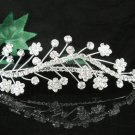 Silver floral hair comb;Bridal crystal comb ;wedding tiara;bride headpiece ;opera accessories#7186