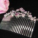 Fancy Floral hair comb;Bridal crystal comb ;wedding tiara;bride headpiece ;opera accessories#1065p