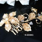 Golden Bridal crystal comb ;Flower girl comb;Wedding tiara;bride headpiece ;opera accessories#38g