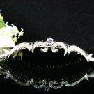 Silver Bridal crystal comb ;fancy hair comb;Wedding tiara;bride headpiece ;opera accessories#587