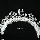Handmade silver crystal comb ;Wedding tiara;bride headpiece ;opera accessories#7637