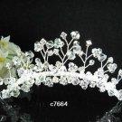 Handmade silver crystal comb ;Wedding tiara;bride headpiece ;opera accessories#7664