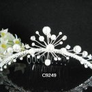 Handmade silver crystal comb ;Wedding tiara;bride headpiece ;opera accessories#9249