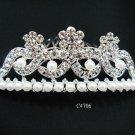 Fancy silver crystal comb ;Wedding tiara;bride bridesmaid headpiece ;opera accessories#4706