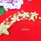 Floral golden crystal comb ;Wedding tiara;bride bridesmaid headpiece ;opera accessories#2227g