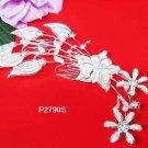 Floral silver crystal comb ;Wedding tiara;bride bridesmaid headpiece ;opera accessories#2709s