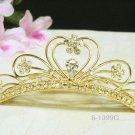 Sweet golden crystal comb ;Wedding tiara;bride bridesmaid headpiece ;opera accessories#1399g