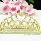 Gorgeous golden crystal comb ;Wedding tiara;bride bridesmaid headpiece ;opera accessories#8951g