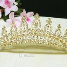 elegance golden crystal comb ;Wedding tiara;bride bridesmaid headpiece ;opera accessories#4539g