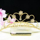 Sweet golden crystal comb ;Wedding tiara;bride bridesmaid headpiece ;opera accessories#602g