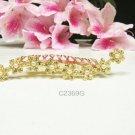 Floral golden crystal comb ;Wedding tiara;bride bridesmaid headpiece ;opera accessories#2369g