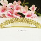 Fancy golden crystal comb ;Wedding tiara;bride bridesmaid headpiece ;opera accessories#2651g