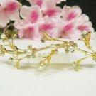 Fancy golden crystal comb ;Wedding tiara;bride bridesmaid headpiece ;opera accessories#5386g