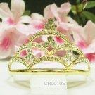 Wedding tiara;Fancy golden crystal comb ;bride bridesmaid headpiece ;opera accessories#ch10g