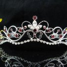 Wedding tiara;Fancy silver crystal red tiara;bride bridesmaid headpiece ;opera accessories#11dr