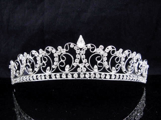 New Wedding tiara;Fancy silver crystal tiara;bride bridesmaid headpiece ;opera accessories#8776