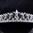 New Wedding tiara;Fancy silver crystal tiara;bride bridesmaid headpiece ;opera accessories#8776