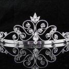New Wedding tiara;Fancy silver crystal tiara;bride bridesmaid headpiece ;opera accessories#9190