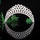 Wedding tiara;elegance silver crystal tiara ;bride bridesmaid headpiece ;opera accessories#760