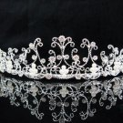 Wedding tiara;silver pearl crystal tiara ;bride bridesmaid headpiece ;opera accessories#5033s