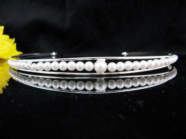 Silver Wedding tiara;crystal headband ;bride bridesmaid headpiece ;opera accessories#5070