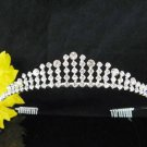 Silver Wedding tiara;crystal headband ;bride bridesmaid headpiece ;opera accessories#571s