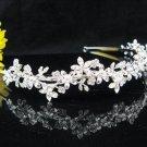 Silver Wedding tiara;crystal headband ;bride bridesmaid headpiece ;opera accessories#4735