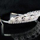 Silver Wedding tiara;crystal headband ;bride bridesmaid headpiece ;opera accessories#790