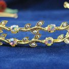 Golden Wedding tiara;crystal headband ;bride bridesmaid headpiece ;opera accessories#534g