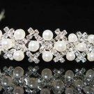 Silver Bridal tiara;crystal pearl wedding headband ;bridesmaid headpiece ;opera accessories#1474