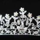 Silver Bridal tiara;crystal wedding headband ;bridesmaid headpiece ;opera accessories#289