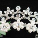Silver Pearl Bridal Headband;crystal wedding tiara ;bridesmaid headpiece;Teen girt headband #3047s