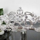Silver Fancy Bridal tiara;crystal wedding tiara ;bridesmaid headpiece;Teen girt headband #1007