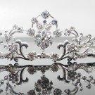 Silver Fancy Bridal tiara;crystal wedding tiara ;bridesmaid headpiece;Teen girt headband #1056