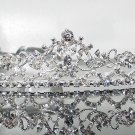 Silver Fancy Bridal tiara;crystal wedding tiara ;bridesmaid headpiece;Teen girt headband #1146