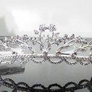 Silver Fancy Bridal tiara;crystal wedding tiara ;bridesmaid headpiece;Teen girt headband #1176