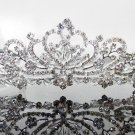 Silver Fancy Bridal tiara;crystal wedding tiara ;bridesmaid headpiece;Teen girt headband #1571