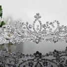 Silver Fancy Bridal tiara;crystal wedding tiara ;bridesmaid headpiece;Teen girt headband #1573