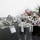 Silver Fancy Bridal tiara;crystal wedding tiara ;bridesmaid headband;Teen girt headband #3056