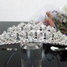 Silver Fancy Bridal tiara;crystal wedding tiara ;bridesmaid headpiece;Teen girt headband #7274