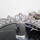 Silver Fancy Bridal tiara;crystal wedding tiara ;bridesmaid headpiece;Teen girt headband #9234